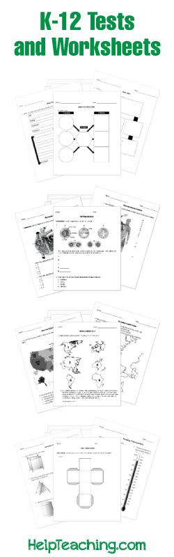 k 12 math worksheets free tests quizzes and worksheets for print or use