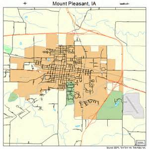 mt pleasant map mount pleasant iowa map 1954705