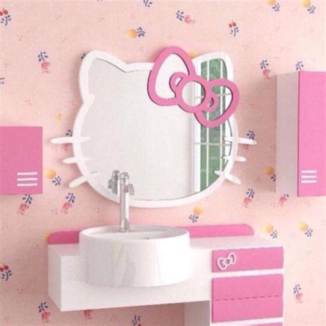 Cute Kitchen Ideas For Apartments hello kitty wall mirror for adorable rooms homesfeed