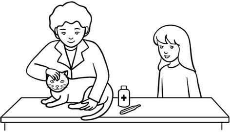 veterinary coloring pages veterinary to color