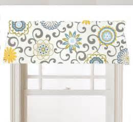 Yellow And Gray Window Valance Items Similar To Lined Valance Window Cornice Mod Flower