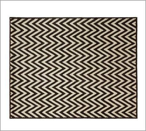 black and white zig zag rug hayden zig zag rug black eclectic rugs by pottery barn