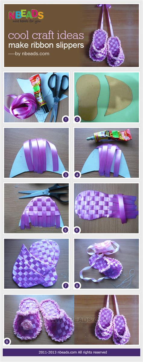 cool ideas cool craft ideas make ribbon slippers nbeads