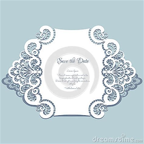 Paper Lace Templates Card by Paper Lace Card Stock Vector Image 57440458