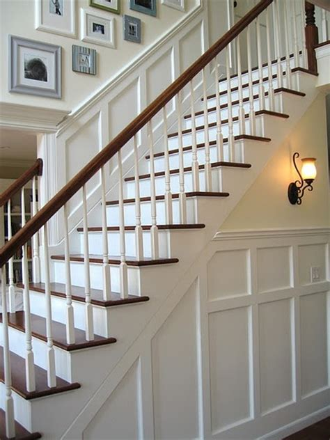 wainscoting stairs wainscoting white poles on stairs for the home