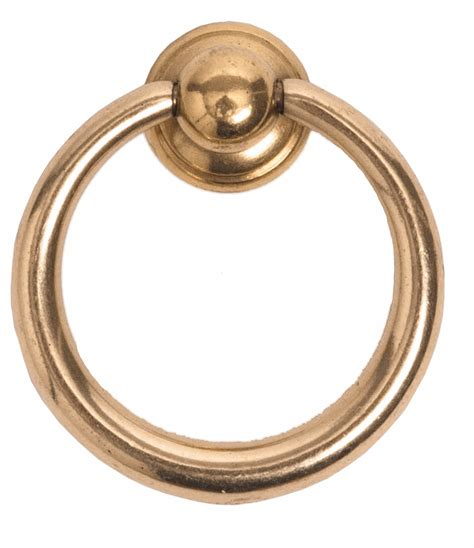 ring pull cabinet hardware 1 1 2 inch classic vintage brass ring pull