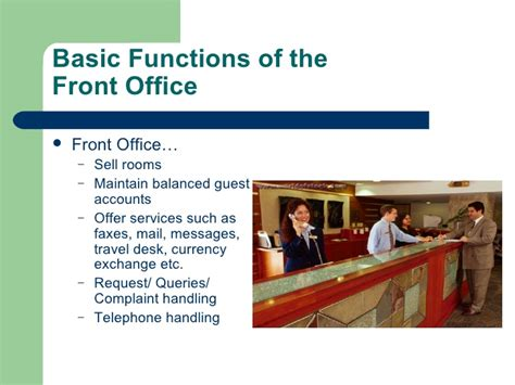 layout of front office department in a hotel introduction to hotel front office