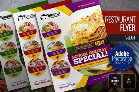 restaurant flyer restaurant flyer vol 04 flyer templates creative market