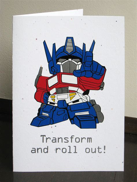 Printable Birthday Cards Transformers | transformer birthday card vinyl crafting creatures