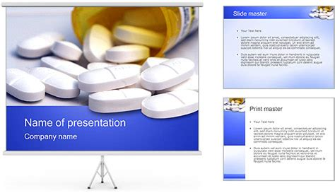 pill bottle powerpoint template backgrounds id