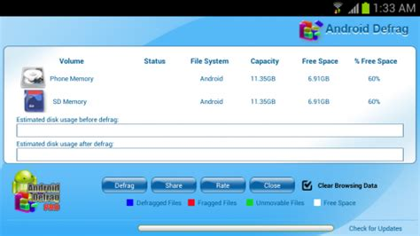 defrag android phone android defrag free free android app android freeware