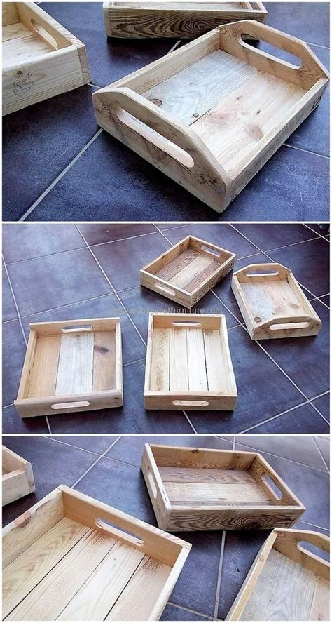 reuse wood pallets  craft wood pallet serving trays