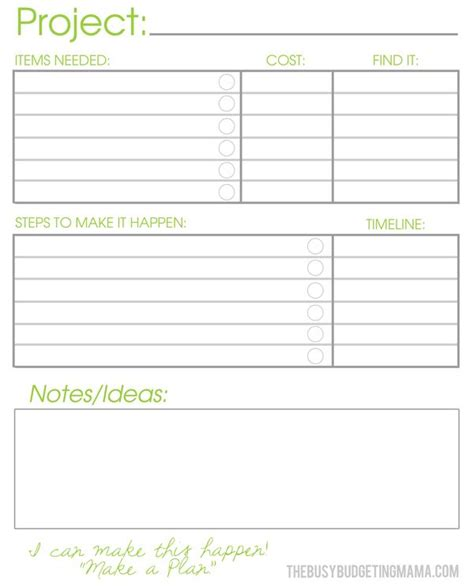 project journal template the busy budgeting enjoy your home now pep talk