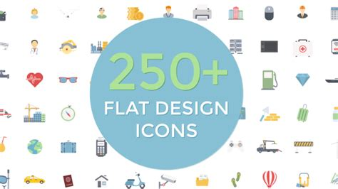 flat design effect flat design icons miscellaneous after effects templates