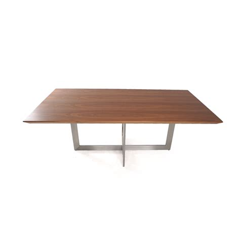 Black Dining Room Table And Chairs Dining Table Walnut With Brushed Aluminum Base Istage