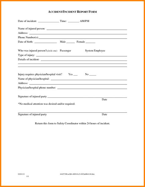 Free Sle Of Incident Report Letter 10 Free Sle Of Incident Report Letter Monthly Budget Forms
