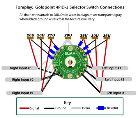 goldpoint selector switch and attenuator connection diagrams