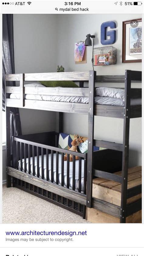 mobel hacks kinderzimmer ikea hack bunk bed with crib wish list