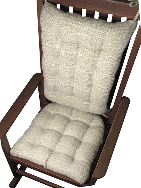 Rocking Chair Pad Set by Brisbane Mist Grey Upholstery Rocking Chair Cushion Set Gray