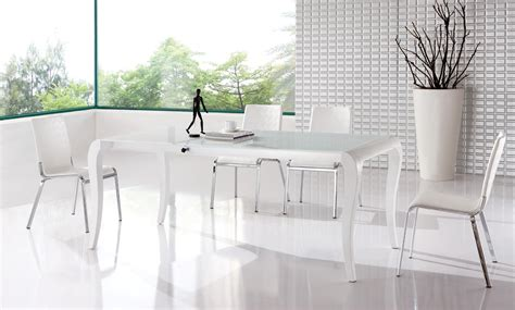 modern white dining table set white dining table at the galleria
