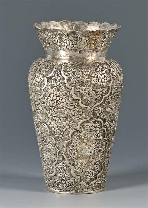 silver vase inc lot 804 kashmiri or indian silver vase