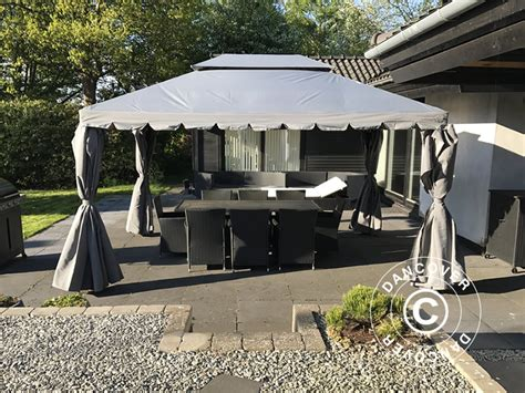 dancover gazebo gazebo da giardino osiris 3x4m beige scuro dancovershop it