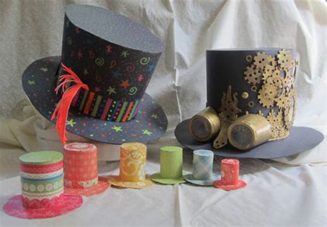 How To Make Hats Out Of Paper - mad hatter hat crafts for children