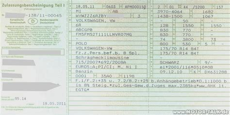 Motorrad Zulassung Teil 2 by Zulassungsbescheinigung 1 S1v2 Bereifung Reifengr 246 223 E Im