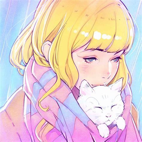 Anime 1080x1080 by Image D Anime Original Kr0npr1nz Hair Single Blue
