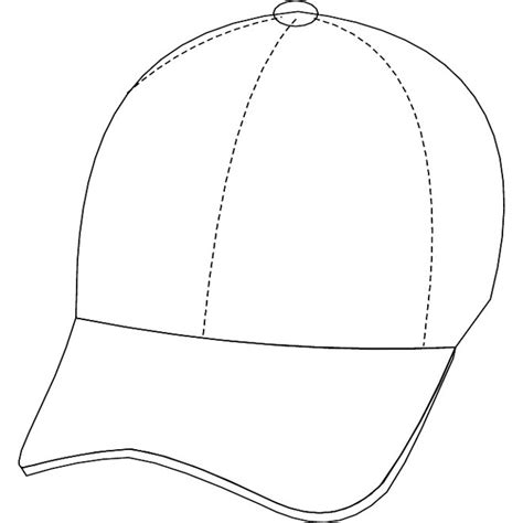 hat outline template cap outline free vector at vectorportal