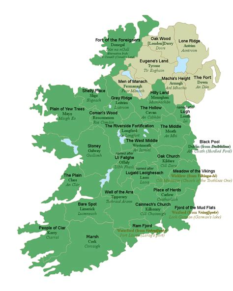ireland county map all 32 counties of ireland with their literal