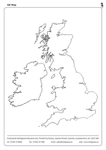 map uk ks1 label the uk and outline maps by wildgooseeducation
