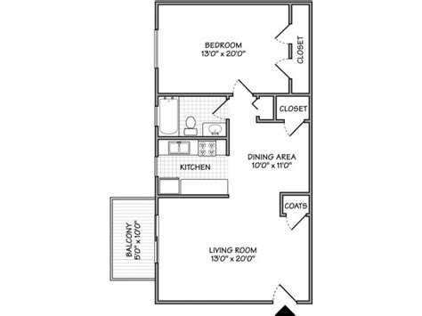 Apartment Floor Plans 1 Bedroom Small One Bedroom Apartment Floor Plans Buybrinkhomes