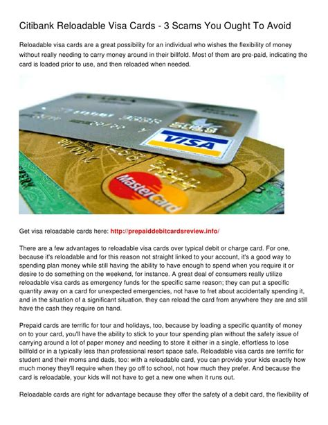Citibank Visa Gift Card - citibank reloadable visa cards 3 scams you ought to avoid