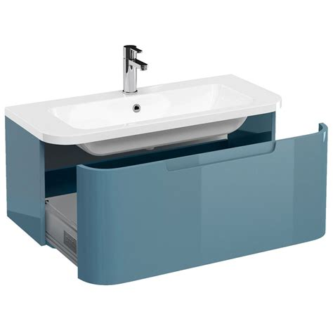Aqua Bathroom Vanity Britton Aqua Cabinets Compact 900mm 1 Drawer Wall Hung
