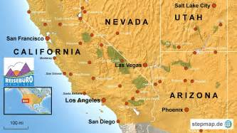 map of california arizona map of california nevada and utah