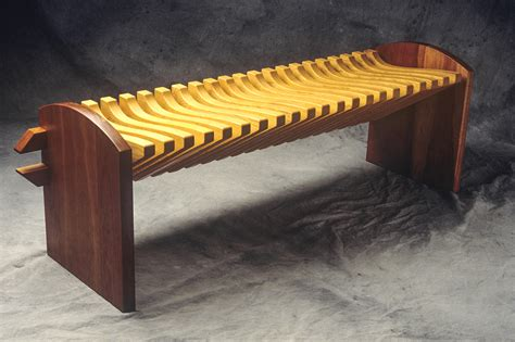 custom wood benches vertebra bench custom hardwood seating seth rolland