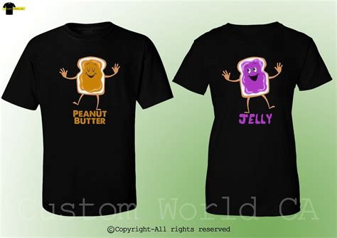 His And T Shirt Designs T Shirts Peanut Butter Jelly His And Hers