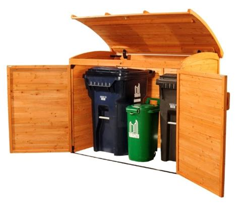 Garbage Bin Storage Shed by Leisure Season Large Wooden Outdoor Trash Recycle Bin