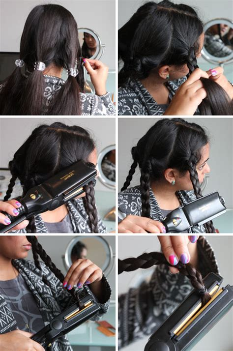 how do you use straighteners on a short side fringe beauty hack flat iron your braids to make waves brit co