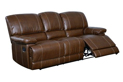 Brown Bonded Leather Sofa Brown Bonded Leather Cushions Reclining Sofa The Home