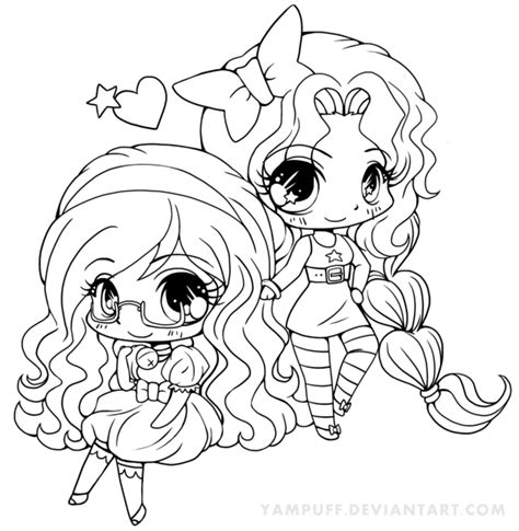 Chibi Anime Girls Coloring Pages Coloringstar Anime Chibi Coloring Pages Free