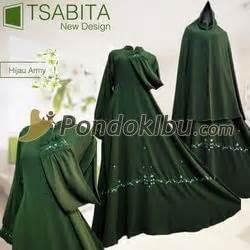 Tsabita Syari by Gamis Syar I Tsabita New Design Hijau Army Pondok Ibu