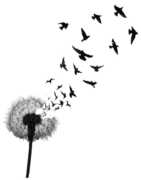 dandelion bird tattoo my next tat changing it up with not as many birds some