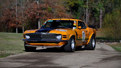 1970 ford mustang boss 302 trans am race car body in white bud wallpapers ford tuning 1970 mustang boss 302 trans am race