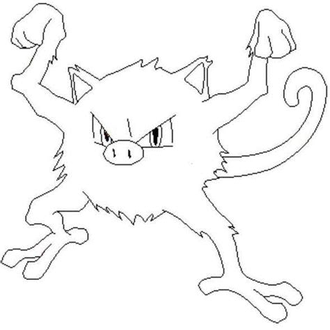 pokemon coloring pages golduck mankey coloring picture of pokemon 56