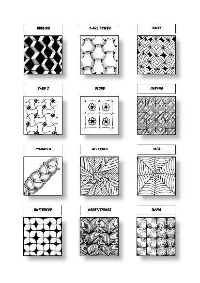zentangle pattern beeline zentangle pattern sheet 9 patterns beeline y ful power