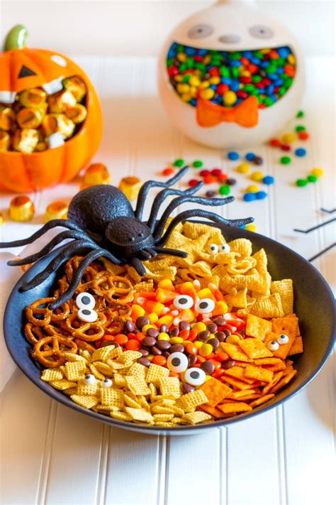 spooky halloween snack mix easy  minute recipe