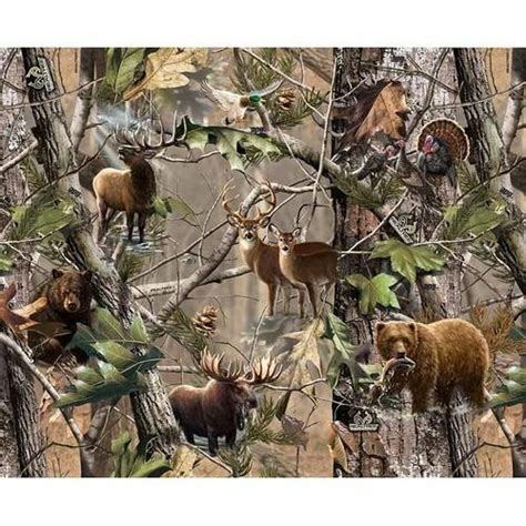 Realtree Quilting Fabric by Fabrique Innovations Realtree Animals Cotton Quilting