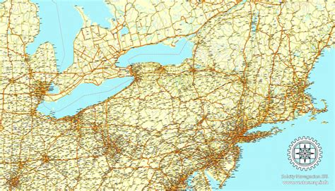 united states and canada map vector usa and canada road vector map mercator projection adobe